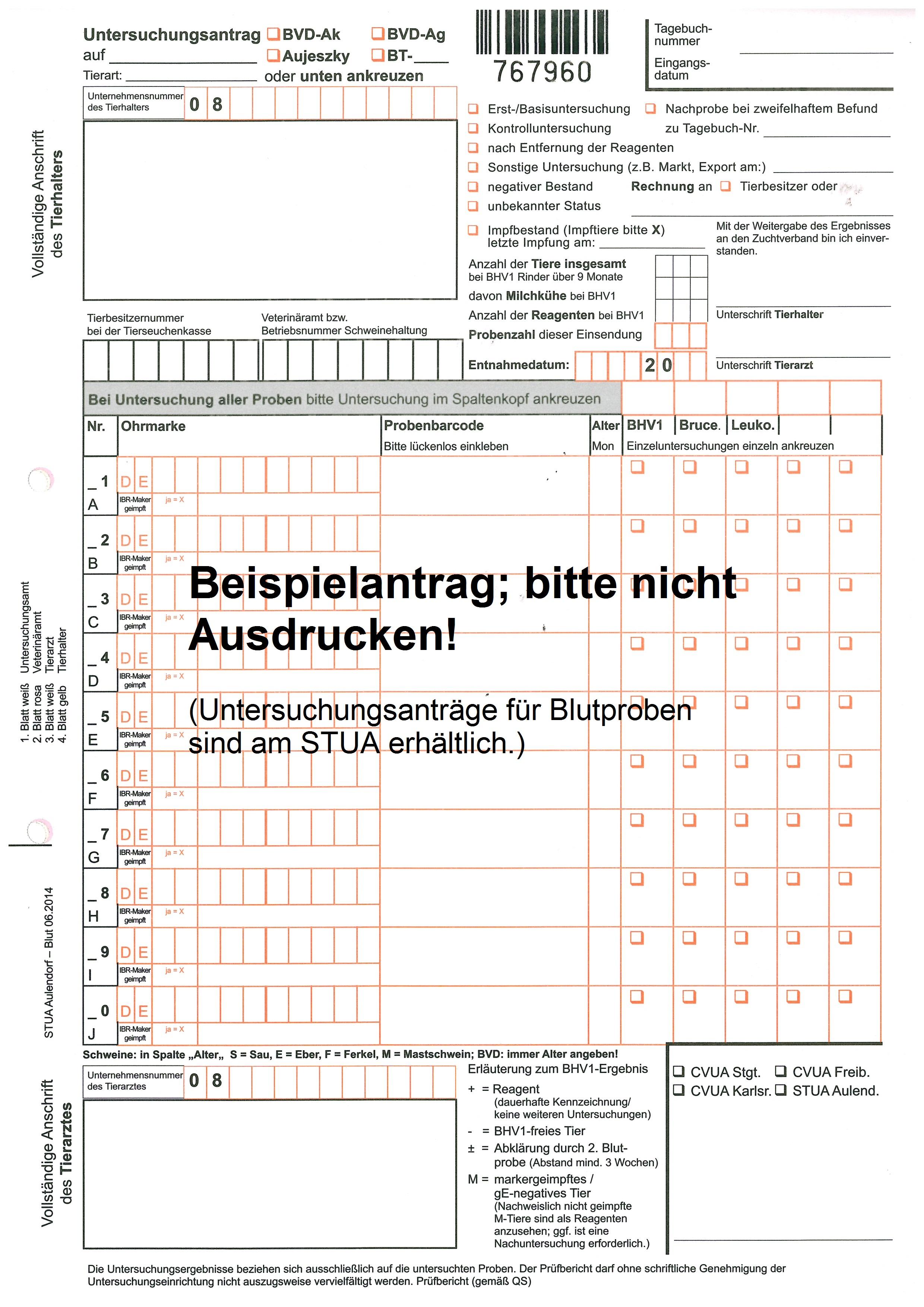 S taatliches T ierärztliches U ntersuchungsamt A ulendorf ...